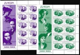 1996 Irlanda Ireland Eire EUROPA CEPT EUROPE 10 Serie Di 2v. MNH** In Minifoglio Minisheet - Europa-CEPT