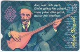 TURKEY B-026 Magnetic Telekom - People, Traditional Musician - Used - Türkei