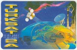 TURKEY B-033 Magnetic Telekom - Communication, Satellite - Used - Türkei
