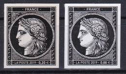France 2019 170 Ans Timbres 20c Ceres Paire 0.88 € + 0.20 € YT 5305 Et 5305A MNH** Luxe - Neufs