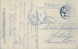 1915 , WWI , T.P. CIRCULADA , FELDPOST - CHAMBLEY , MILITÄRBAHNHOF , K.F. FELDPOST / 33. INF. DIV. 14 II , BRIEFSTEMPEL - Germany