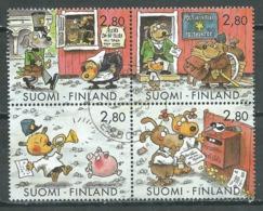 Finlande YT N°1236/1239 Journée Du Timbre Journée De La Lettre écrite (Timbres Se-tenant) Oblitéré ° - Finlande