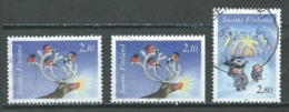 Finlande YT N°1240/1241 + 1240a Noel 1994 Oblitéré ° - Finland