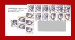 (D)  Italia- Storia Postale - La DONNA Nell'ARTE.  Affrancatura Mista . Timbro 2002. - 6. 1946-.. Republik