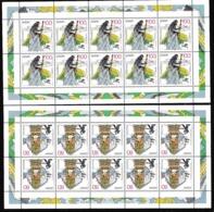 1997 Germania Germany EUROPA CEPT EUROPE 10 Serie Di 2v. MNH** In 2 Minifogli 2 Minisheets - Europa-CEPT
