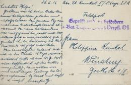 1915 , WWI , T.P. CIRCULADA , FELDPOST - LEINTREY , GEPRÜFT UND ZU BEFÖRDERN , II BAT. - Cartas