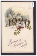 BONNE ANNEE - MILLESIME 1920 - TB - Neujahr