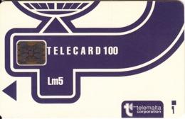 MALTA - Telecom Logo Lm5(blue), White CN : C3B000625, Chip SC5, 12/93, Used - Malte