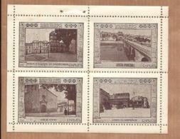 Conjunto De 4 Vinhetas CHAVES (Vila Real). SET Of 4 Vintage CINDERELLA Poster STAMP Sheet PORTUGAL - Emissions Locales