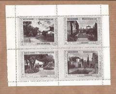 Conjunto De 4 Vinhetas PAÇO Da PALMEIRA Pousada De Luxo BRAGA. SET Of 4 Vintage CINDERELLA Poster STAMP Sheet PORTUGAL - Emissions Locales