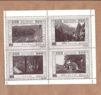 Conjunto De 4 Vinhetas TERMAS Do GEREZ Geres BRAGA. SET Of 4 Vintage CINDERELLA Poster STAMP Sheet PORTUGAL - Emissions Locales