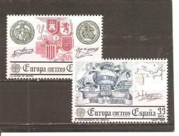 España/Spain-(MNH/**) - Edifil  2657-58 - Yvert  2285-86 - Europa-CEPT