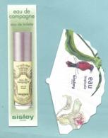 LOT De 2 Cartes Parfumées Modernes - SISLEY - Eau De Campagne Et Eau Tropicale Petit Eventail - Parfumkaarten