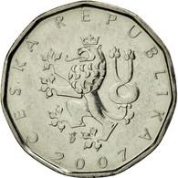 Monnaie, République Tchèque, 2 Koruny, 2007, TTB, Nickel Plated Steel, KM:9 - Tschechische Rep.