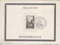 ORADOUR SUR GLANE Octobre 1945 PREMIER JOUR SUR CARTE DOUBLE - Marcophilie (Lettres)