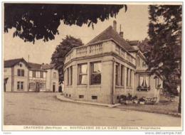 Carte Postale 67. Chatenois  Hotel-Restaurant De La Gare  Mr. Eugène Herrmann Prop.  Trés Beau Plan - Non Classés