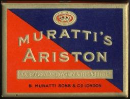 SWITZERLAND MURATTI'S ARISTON VINTAGE 1940'S TOBACCO 20 CIGARETTE PACK BOX - Empty Cigarettes Boxes