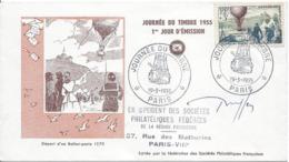 JOURNEE DU TIMBRE PARIS 19 3 1955 - Storia Postale