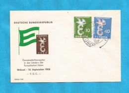 XXIII AKTION AUSFERKAUF  1958 EUROPA CEPT GERMANIA INTERESSANT - 1958