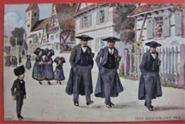"""ILLUSTRATEUR HANSI """"CEUX QUI N'OUBLIENT PAS"""" - Alsace Patriotique Costumes Folklore - Hansi"""
