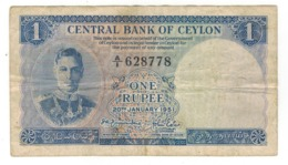 Sri Lanka (Ceylon) 1 Rupee, 1951. VF. - Sri Lanka