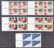 U.S. 2580 B -85 A  Type I  &   II    **    CHRISTMAS  SANTA  UNMOUNTED  BOOKLET PANES - Christmas