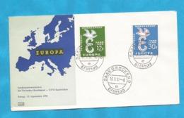 XXIII AKTION AUSFERKAUF  GERMANIA  1958 EUROPA CEPT  INTERESSANT - 1958