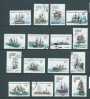 Australian Antarctic Territory AAT 1979 - 1981 Ship Definitives Set 16 VFU - Used Stamps