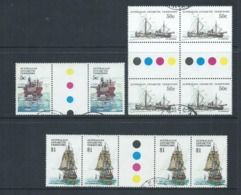 Australian Antarctic Territory AAT1979 - 1981 Ship Definitives 5c 50c & $1 Gutter Pairs Or Blocks VFU - Australian Antarctic Territory (AAT)