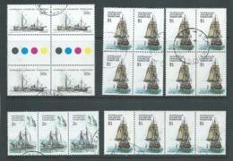 Australian Antarctic Territory AAT 1979 - 1981 Ship Definitives 2c 50c & $1 Strips Or Blocks VFU - Used Stamps