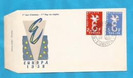 XXIII AKTION AUSFERKAUF  BELGIEN  1958 EUROPA CEPT  INTERESSANT - 1958
