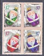 U.S. 3886 A   **     CHRISTMAS  ORNAMENTS  SANTA - Christmas