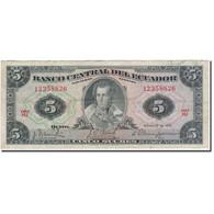 Billet, Équateur, 5 Sucres, 1970-02-27, KM:100d, TB - Equateur