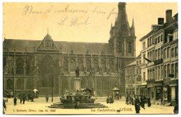 Belgique - LIÈGE - La Cathédrale - Joliment Animée - Carte Finition Vernie - Taxée, 1905 - Liège