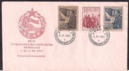 Tchécoslovaquie - 1951 - FDC - Mois De L'amitié Soviétique En Tchécoslovaquie - FDC