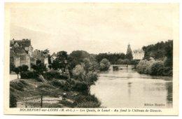 49190 ROCHEFORT-SUR-LOIRE - Les Quais, Le Louet - Au Fond Le Château De Dieuzie - écrite En 1939 - France