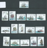 Australian Antarctic Territory AAT 1979 - 1981 Ship Definitives Set 16 MNH - Unused Stamps