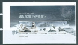 Australian Antarctic Territory 2013 Expedition Anniversary III Disaster & Isolation Imperforate Miniature Sheet MNH - Unused Stamps