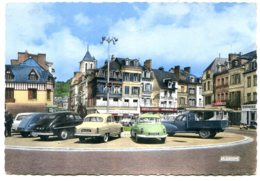 27500 PONT-AUDEMER - CPSM 10,5x15 - Place Victor-Hugo - Voitures Années 50 - Pont Audemer