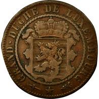 Monnaie, Luxembourg, William III, 10 Centimes, 1870, Utrecht, TTB, Bronze - Luxemburgo