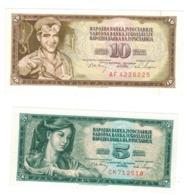 Yugoslavia , 5 & 10 Dinara, 1968. UNC. - Jugoslawien