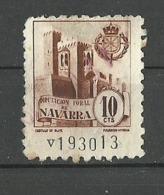 Castillo OLITE Diputacion Foral De Navarra 10cts Poliza Tasa Fiscal Impuesto - Revenue Stamps