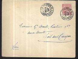 Monaco  Lettre  Du 13   11   1900     Cat Yt N° 15 ( Seul Sur Lettre ) De La Principauté Pour Carcassonne - Covers & Documents