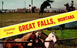 Montana Greetings From Great Falls - Great Falls