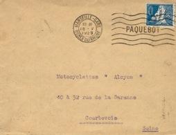 1929- Enveloppe Affr. 50 C  T P Algérie Oblit. Marseille-gare / PAQUEBOT 7 Lignes - SUPERBE - Marcophilie (Lettres)