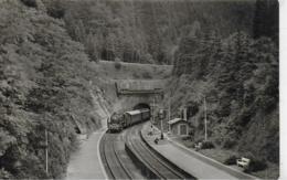 AK 0323  Dampfeisenbahn Bei Oberhof ( Tunnel , Haltestelle ) - Ostalgie , DDR Um 1957 - Eisenbahnen