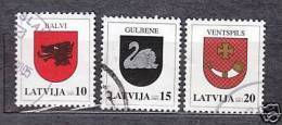LATVIA COAT OF ARMS USED STAMPS FULL YEAR SET 2003 - Latvia
