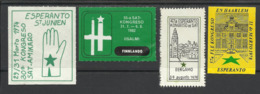 ESPERANTO - CONGRES - Commemorative Labels