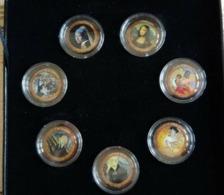 The Most Precious Paintings 7 Pièces De 50 Lire 24,8 Mn En CuNi Collector - Italy