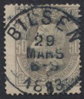 "émission 1869 - N°35 Obl Simple Cercle ""Bilsen"" - 1869-1883 Leopold II."